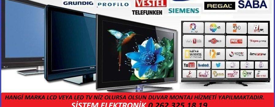 Kocaeli LCD ve LED Tv Duvar Montaj Hizmeti